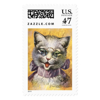 Arthur Thiele - Female Cat with Glasses Postage