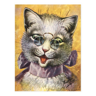 Arthur Thiele - Female Cat with Glasses Postcard