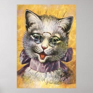 Arthur Thiele: Female Cat with Glasses