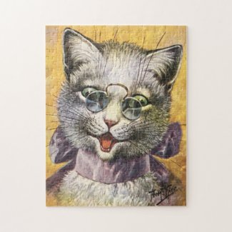 Arthur Thiele: Female Cat with Glasses