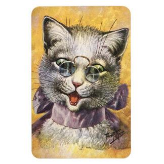 Arthur Thiele - Female Cat with Glasses Rectangular Photo Magnet