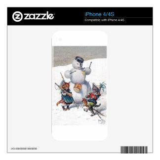 Arthur Thiele - Kittens and the Snowman Decal For The iPhone 4