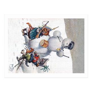 Arthur Thiele - Kittens and the Snowman Postcards