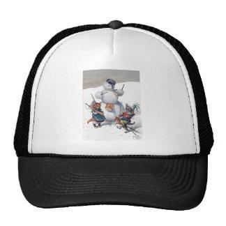 Arthur Thiele - Kittens and the Snowman Trucker Hat