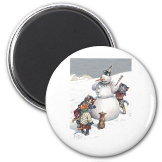 Arthur Thiele - Kittens Play Hide and Seek 2 Inch Round Magnet