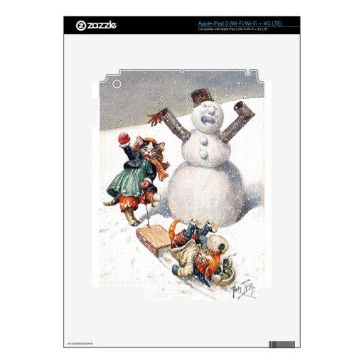 Arthur Thiele - Kittens Take a Tumble in the Snow iPad 3 Decals