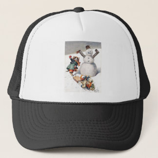Arthur Thiele - Kittens Take a Tumble in the Snow Trucker Hat