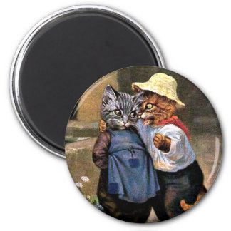 Arthur Thiele - Lovely Country Cats 2 Inch Round Magnet