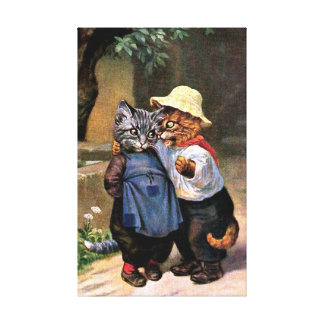Arthur Thiele - Lovely Country Cats Canvas Print