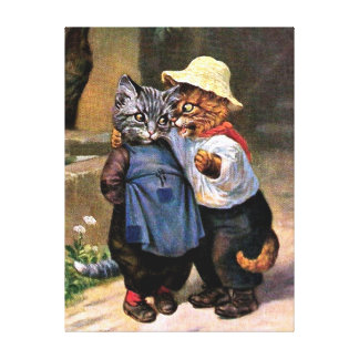 Arthur Thiele - Lovely Country Cats Stretched Canvas Print
