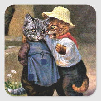 Arthur Thiele - Lovely Country Cats Square Sticker