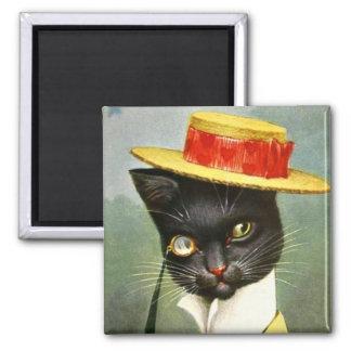 Arthur Thiele - Mr. Cat 2 Inch Square Magnet