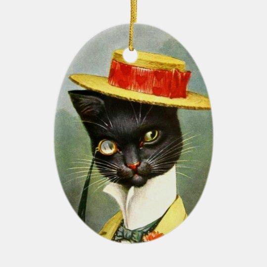 Arthur Thiele - Mr. Cat Ceramic Ornament