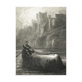 Arthurian legend: The Body of Elaine Canvas Print