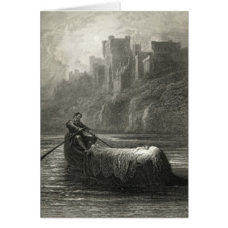Arthurian legend: The Body of Elaine Card
