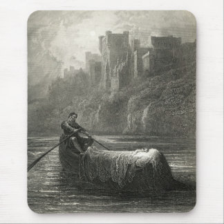 Arthurian legend: The Body of Elaine Mouse Pad