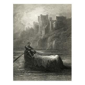 Arthurian legend: The Body of Elaine Postcard