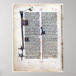 Arthurian Romance Illuminated page. Print