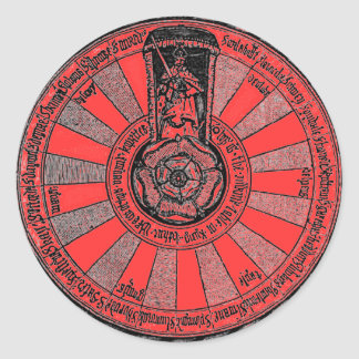 Arthur's round table classic round sticker