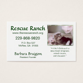 Artic & babes 2 frms, Rescue Ranch, Rescue ... Business Card