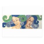 Artichicks art on a postcard (Medusa duo)