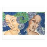 Artichicks art on a postcard (Medusa duo detail)