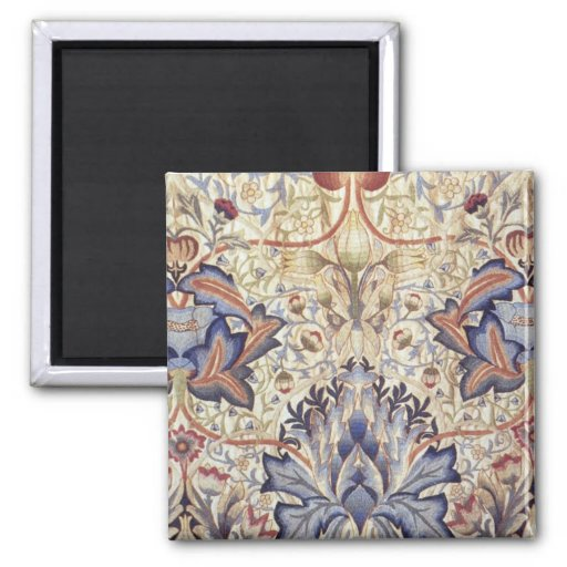 Artichoke Design by William Morris 2 Inch Square Magnet