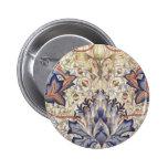 Artichoke Design by William Morris Pinback Button