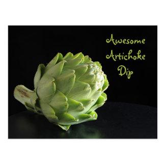 Artichoke dip recipe postcard