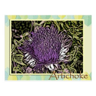 Artichoke Flower Postcard