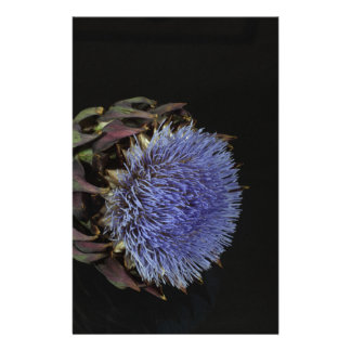 Artichoke flower stationery