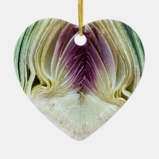 Artichoke Heart - Heart Shaped Ornament