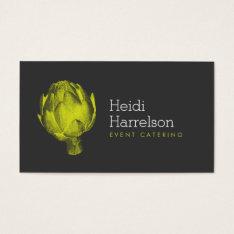 Artichoke Illustration Green/gray - Catering, Chef Business Card at Zazzle
