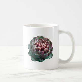 Artichoke on white. coffee mug