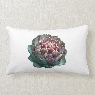 Artichoke on white. throw pillow