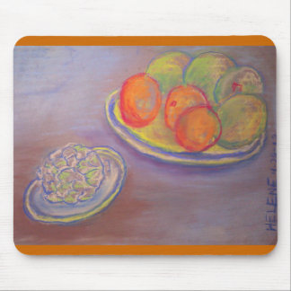 Artichoke, Oranges and Mangoes Mouse Pad
