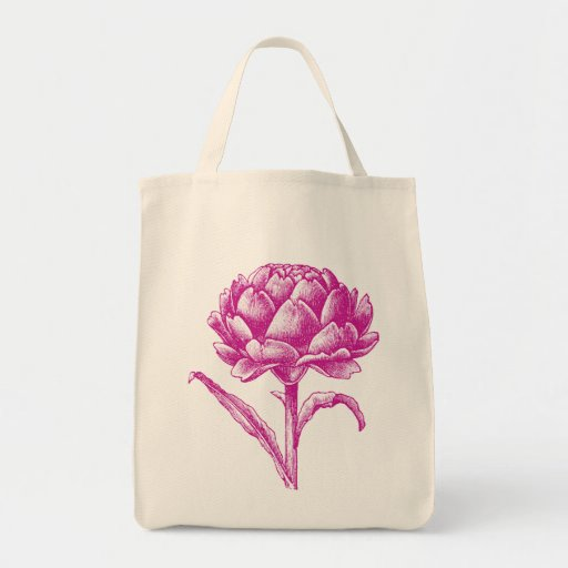 Artichoke Organic Grocery Tote Canvas Bags