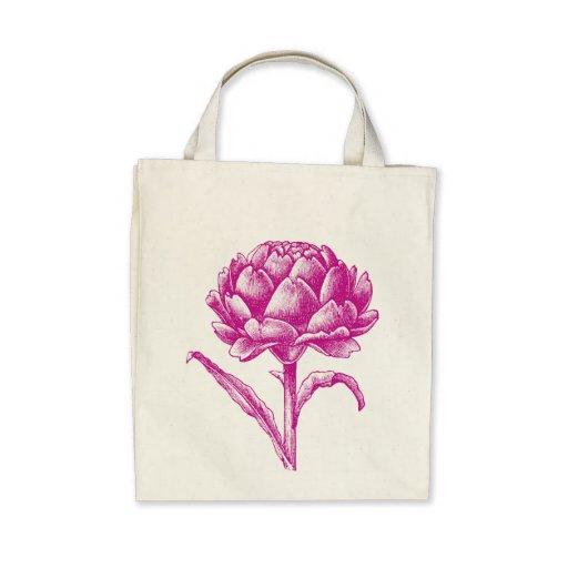Artichoke Organic Grocery Tote Canvas Bags