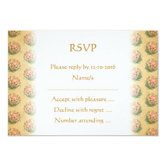 """Artichoke Pattern with a Vintage Style Look. 3.5"""" X 5"""" Invitation Card"""