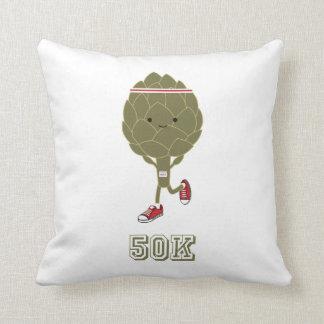 Artichoke Runner 50K Throw Pillow
