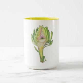 Artichoke slice 2-tone mug