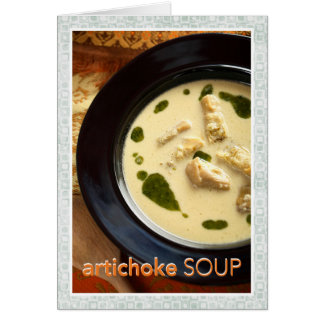 Artichoke Soup Recipe Card