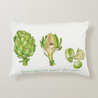 "Artichoke with Brussel Sprouts Pillow 16"" x 12"""