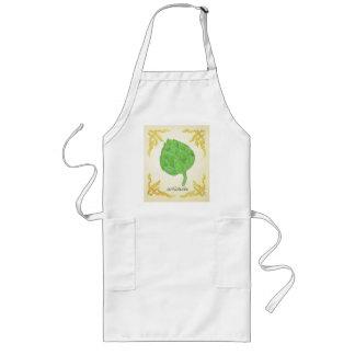 artichoke with leaves classic design long apron