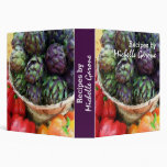 Artichokes Bell Peppers Kitchen Recipe Cookbook Vinyl Binder