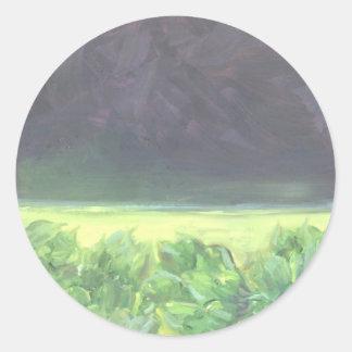 """""""Artichokes by the Sea"""" Classic Round Sticker"""
