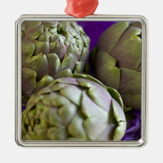 Artichokes For use in USA only.) 2 Metal Ornament