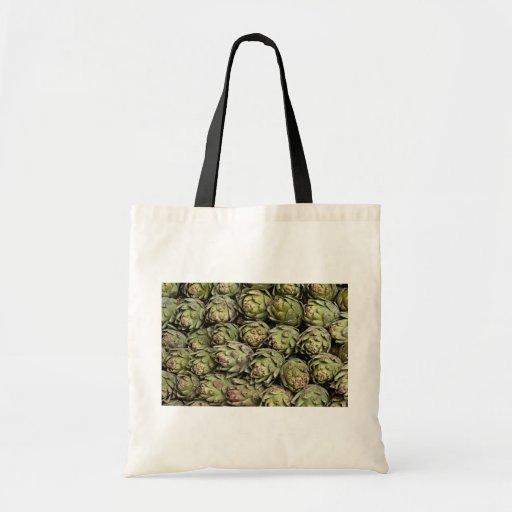 Artichokes Photo Canvas Bags