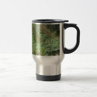 Artichokes plantation on rolling hills travel mug