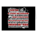 Article 19 Quote (Color) Greeting Cards